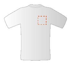 Budget T-shirts met borstopdruk