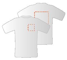 Budget T-shirts met voor- en achteropdruk