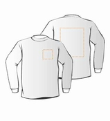 Budget Sweaters met voor- en achteropdruk